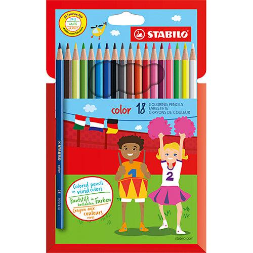 Набор цветных карандашей 18 цв. от STABILO