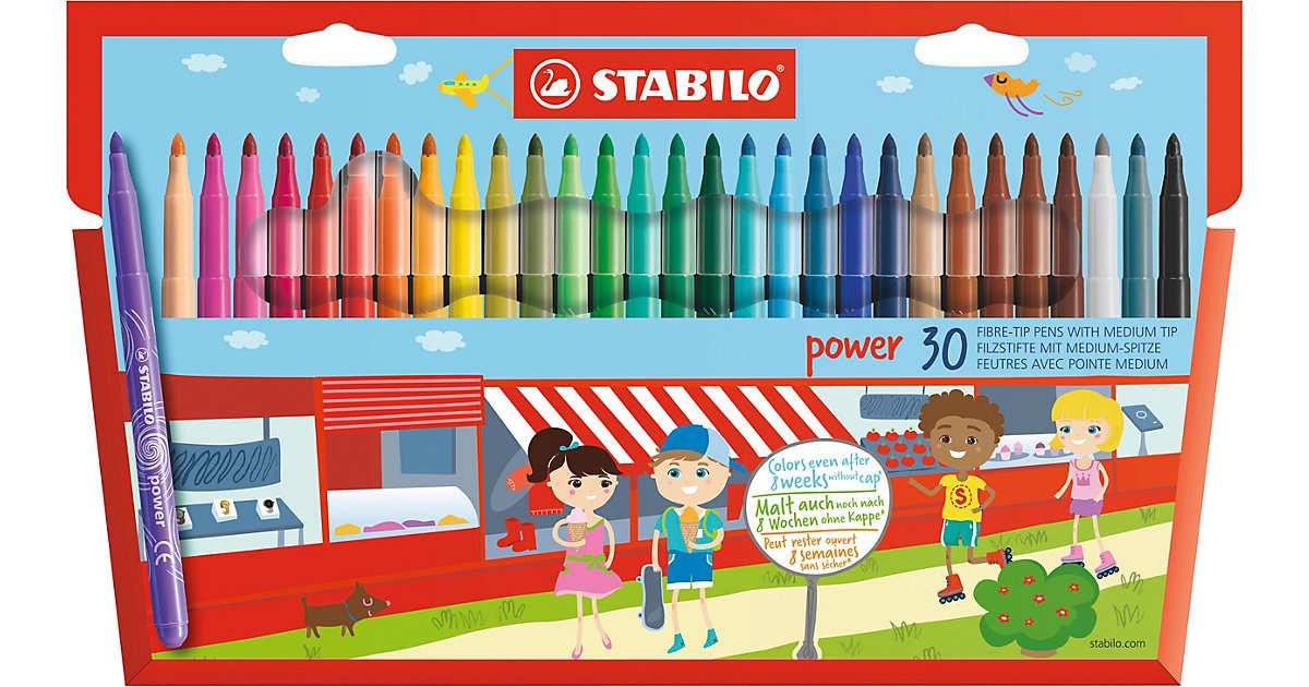 Filzstifte Swano power, 30 Farben