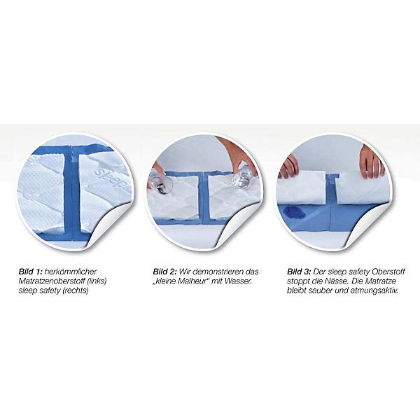 Träumeland Set Matratze Brise 60 x 120 cm 2 Spannbetttücher Jersey weiß NEU