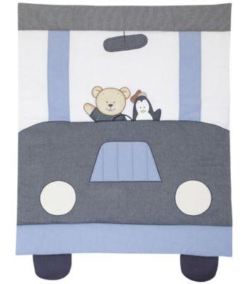 Krabbeldecke Car Driver, 100 x 135 cm grau