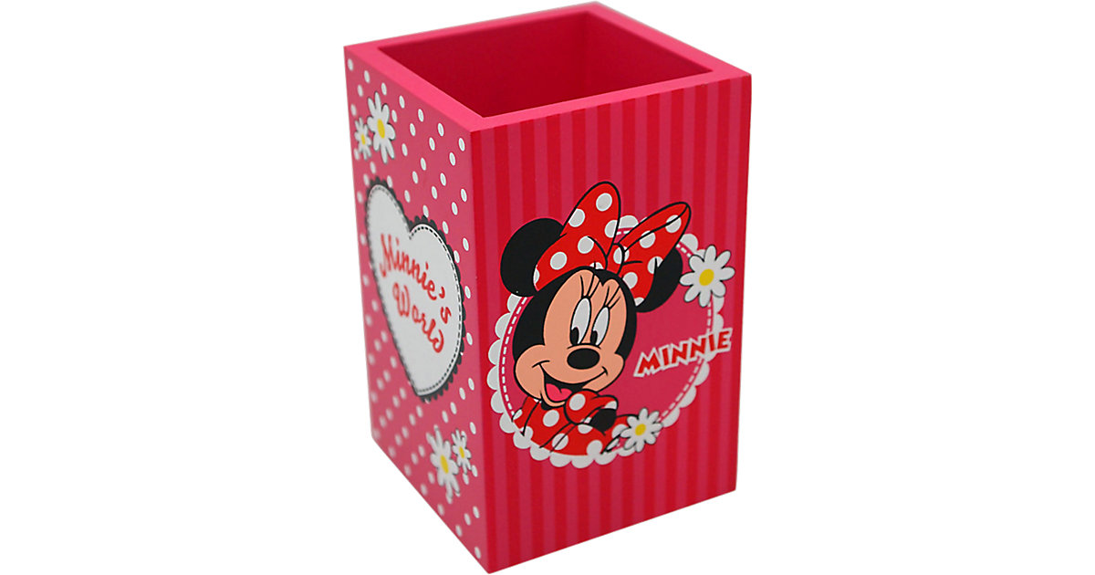 Stifteköcher Holz Minnie Mouse