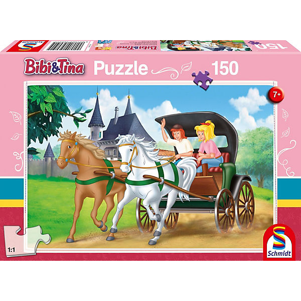 Puzzle Bibi & Tina, Kutschfahrt, 150 Teile, Bibi und Tina