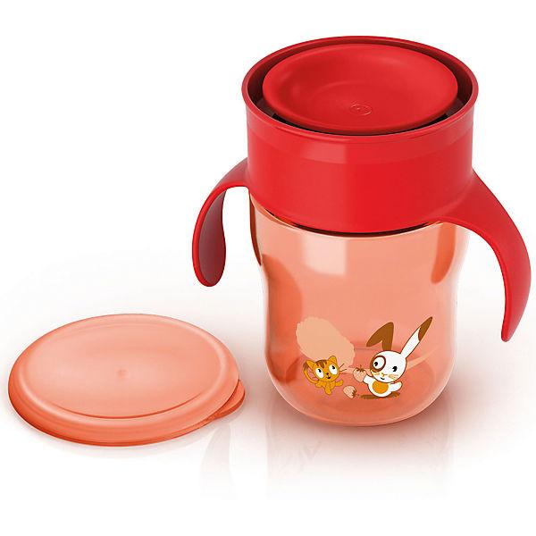 Чашка-поильник, Philips Avent, 260 мл., красный