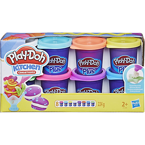 Набор пластилина Play-Doh Plus, 8 банок от Hasbro