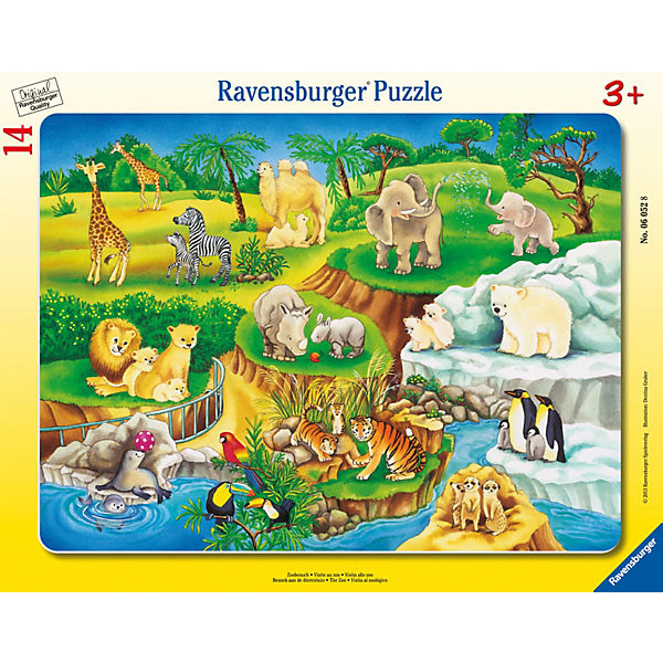 Puzzle Zoobesuch Zoobesuch Zoobesuch 14 Teile, Ravensburger f87378