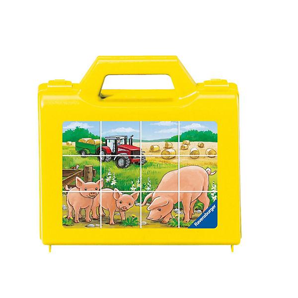 Würfelpuzzle im Koffer Tiere auf dem Bauernhof, Ravensburger