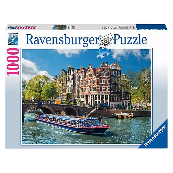 """Пазл """"Каналы Амстердама"""" Ravensburger, 1000 деталей"""