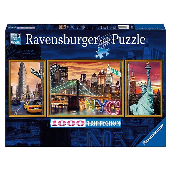 """Пазл-триптих """"Ослепительный Нью Йорк"""" Ravensburger, 1000 деталей"""