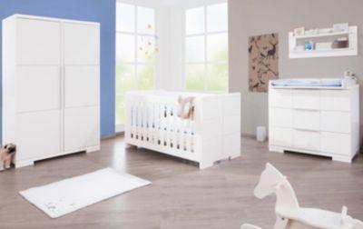 Komplett Kinderzimmer ICE groß, (Kinderbett, Wickelkommode breit ... | {Kinderzimmer weiß 33}
