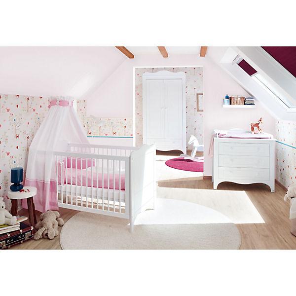 Komplett Kinderzimmer FLEUR groß, 3-tlg. (Kinderbett, Wickelkommode ...