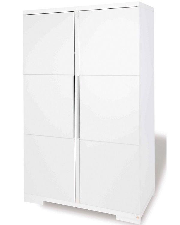 Kleiderschrank POLAR, 2-türig, weiß edelmatt, Pinolino | myToys