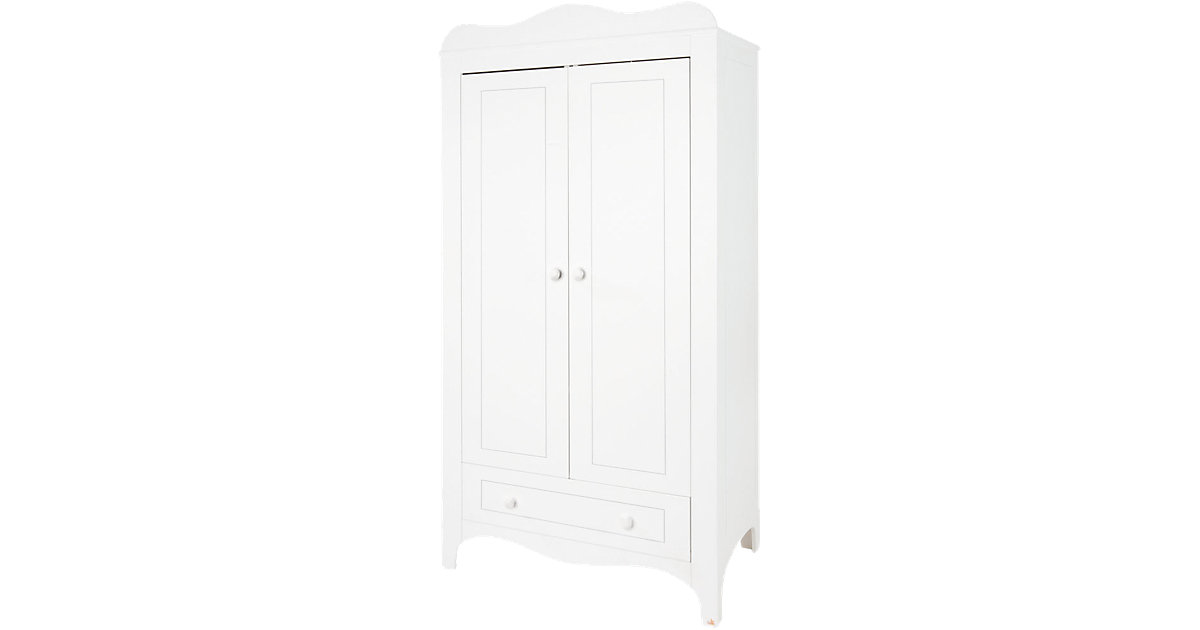 Kleiderschrank FLEUR, 2-türig, weiß edelmatt