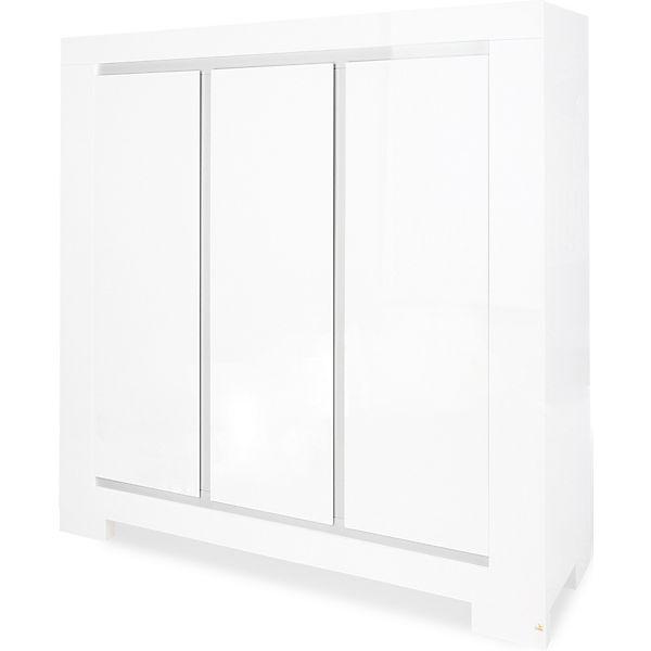 Kleiderschrank weiß hochglanz 3 türig  Kleiderschrank SKY, 3-türig, Weiß/Hochglanz, Pinolino | myToys