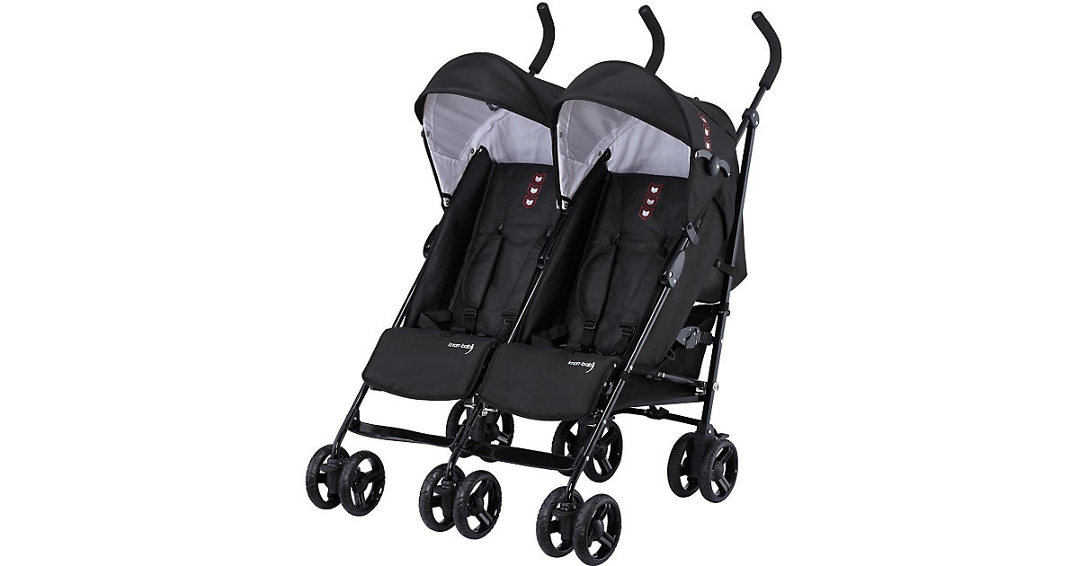 Knorr Toys · knorr-baby Geschwisterwagen Side by Side schwarz
