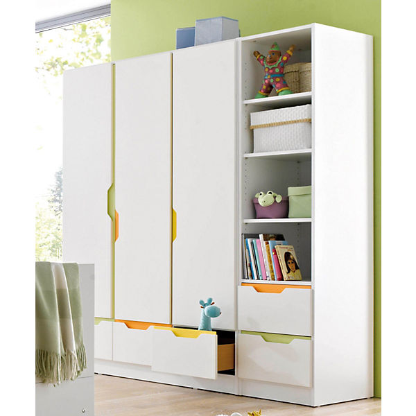 kleiderschrank fresh 3 t rig weiss bunt geuther mytoys. Black Bedroom Furniture Sets. Home Design Ideas