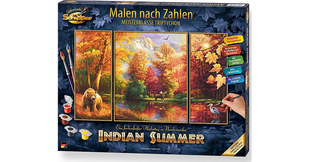 SCHIPPER · Schipper Malen nach Zahlen Indian Summer (Triptychon), 50 x 80 3-teilig