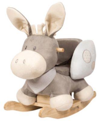 Schaukeltier Esel, Cappuccino, grau