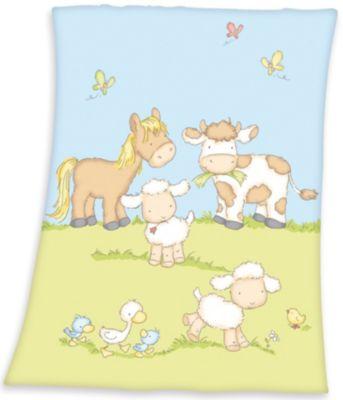 Herding Winnie Pooh Microfaser-Flauschdecke Polyester rosa 75 x 100cm