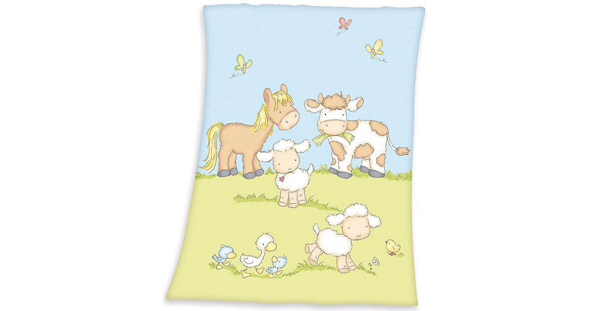Babydecke Fynn, Farmtiere, 75 x 100 cm mehrfarbig | Kinderzimmer > Textilien für Kinder > Babytextilien | Herding