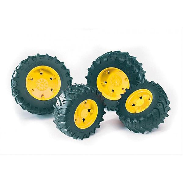 BRUDER 3314 gelben Traktor Zwillingsbereifung mit gelben 3314 Felgen für Traktor Serie 03000, Bruder b4057d