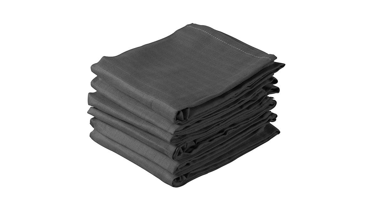 Jollein · Mullwindeln, anthrazit, 70 x 70 cm, 6er Pack