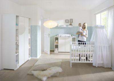 Komplett Kinderzimmer MAXIMO WEIß, 3 Tlg. (Kinderbett,Umbauseiten,  Wickelkommode Und ...