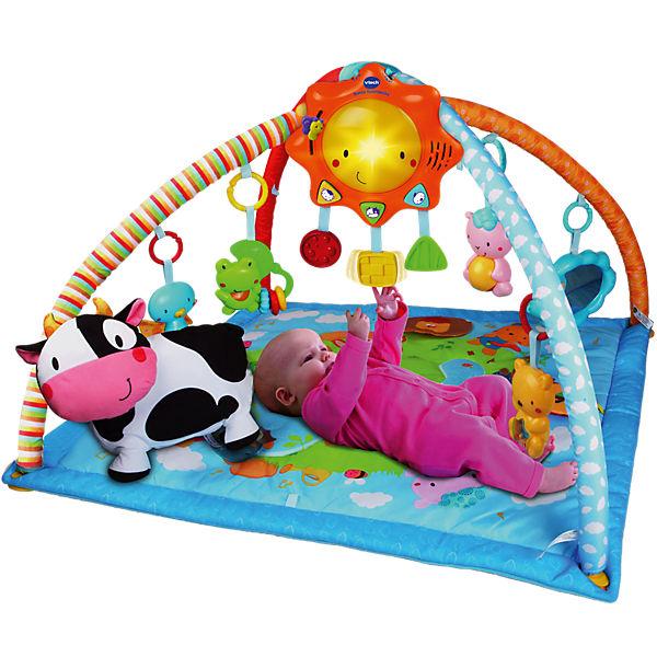 bunte spieldecke mit spielbogen vtech baby mytoys. Black Bedroom Furniture Sets. Home Design Ideas