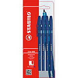 STABILO Liner Ручка 808/41, синяя, 4 шт.