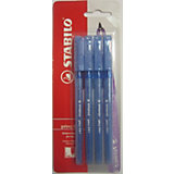 STABILO Liner Ручка 818/41, синяя, 4шт