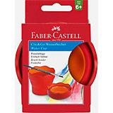 Стакан для воды Faber-Castell Clic&Go, красный