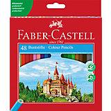 Карандаши цветные Faber-Castell, 48 цветов, с точилкой