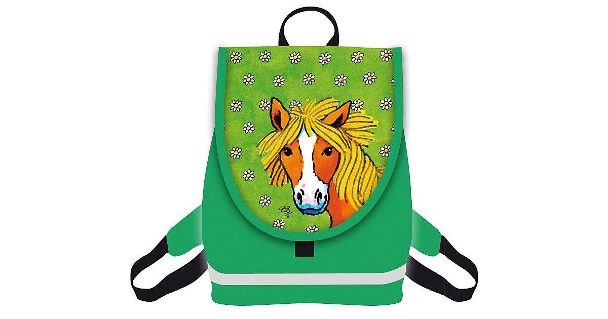 Kinderrucksack Mein Ponyhof grün