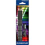 STAEDTLER Набор чернографитовых карандашей Noris eco, HB, 3 шт. + точилка + ластик