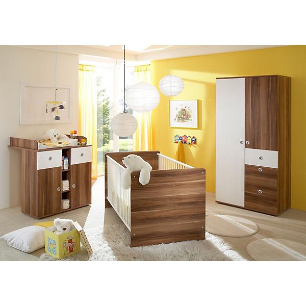 Babyzimmer Milu 3 Tlg Kleiderschrank Wickelkommode Bett