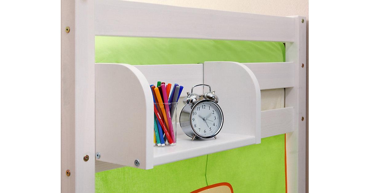 Einhängeregal Hoch- und Etagenbetten, Kiefer massiv, weiß lackiert, 40 x 22 cm Gr. 20 x 40 Kinder