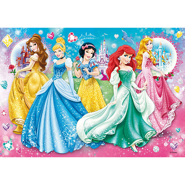 Puzzle mit Glitzersteinen - 104 Teile Princess: Twinkled Ladies