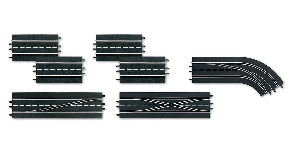 CARRERA DIGITAL 132 30367 Digitales Schienenausbauset (4 Standardgeraden, 1 Doppelwei