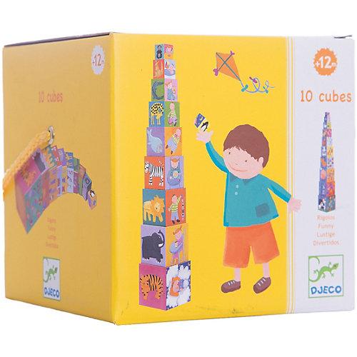 DJECO Кубики-пирамида Забавные кубики (10 элементов) от DJECO