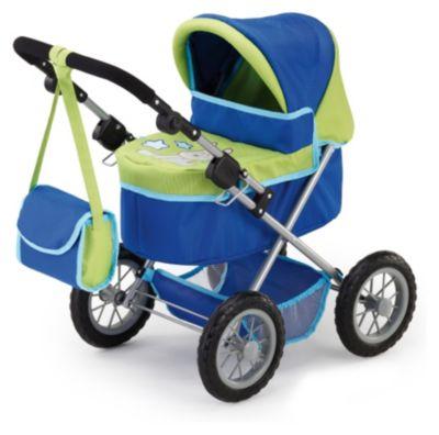 Trendy Puppenwagen Blau/Grün