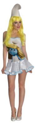 Kostüm Schlumpfine Dress (Erw.) Gr. 32 Mädchen Kinder