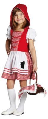 Kostüm Mädchen mit rotem Cape Gr. 116 Mädchen Kinder