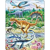 """Пазл """"Динозавры"""", 35 деталей, Larsen"""