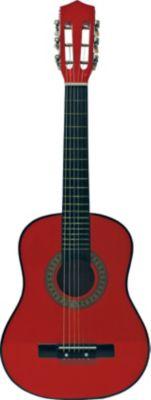 Gitarre professionell - rot 76 cm, inkl. Tasche und Gitarrengurt