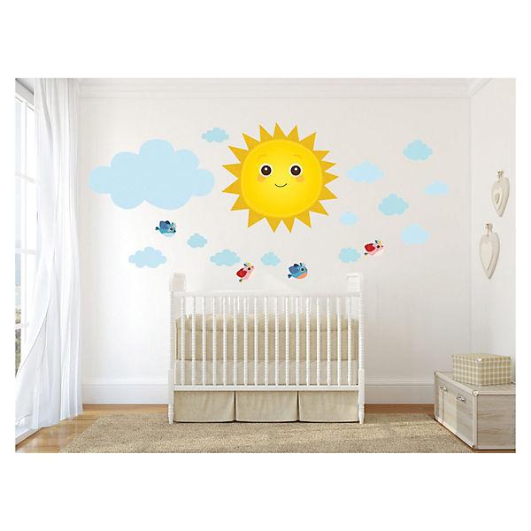 wandtattoo kinderzimmer sonne reuniecollegenoetsele. Black Bedroom Furniture Sets. Home Design Ideas