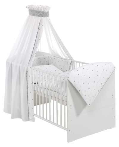 Kinderbett weiß 70x140  Kinderbett komplett, weiß, Waldhochzeit, 70 x 140 cm, Roba | myToys