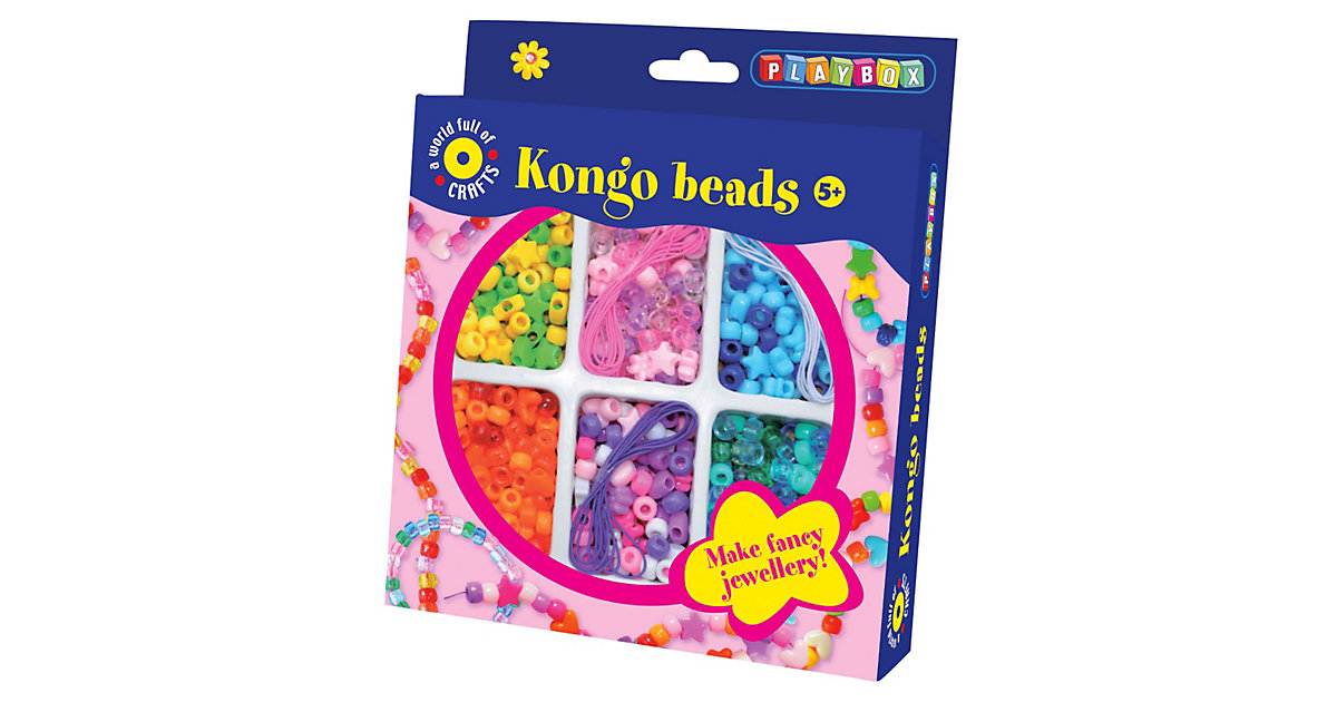 Kongo-Perlen, 400 Stück & Zubehör