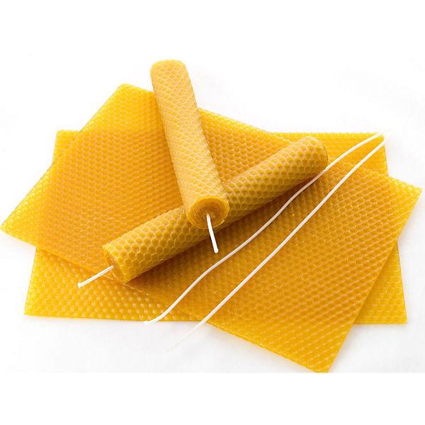 Bienenwachsplatten 15 Stück Inkl Docht Pebaro