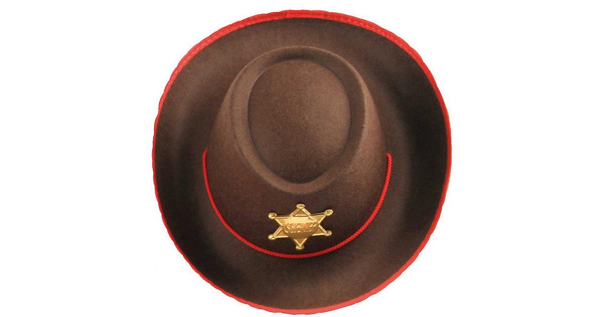 Cowboyhut braun/rot Jungen Kinder