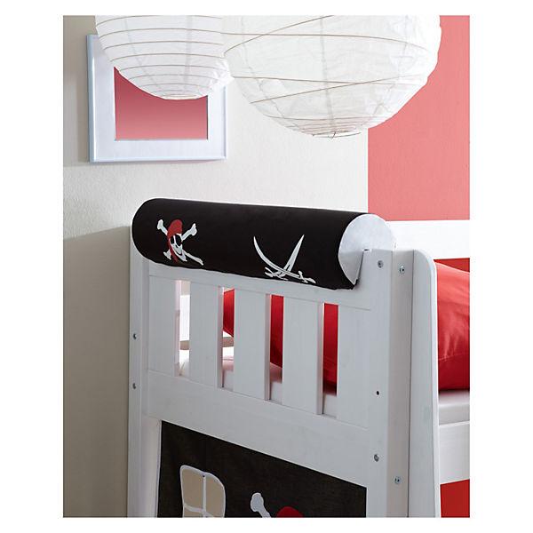 spielbett mit turm kenny kiefer massiv wei lackiert. Black Bedroom Furniture Sets. Home Design Ideas