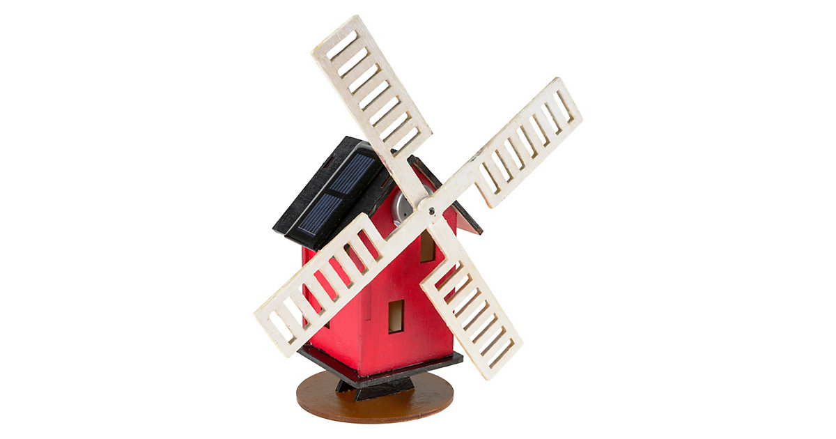Holz-Bausatz Solar-Windmühle